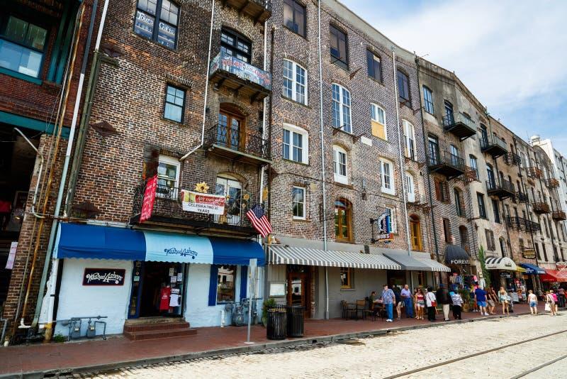 Savannah Cityscape fotografía de archivo libre de regalías