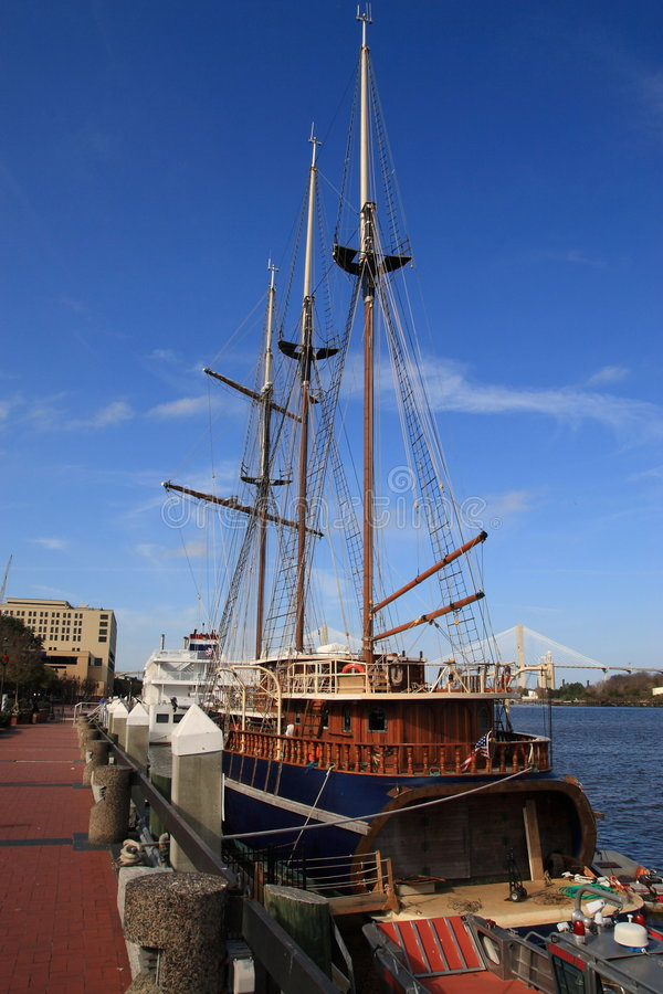 Savannah Georgia Docks Stock Photography