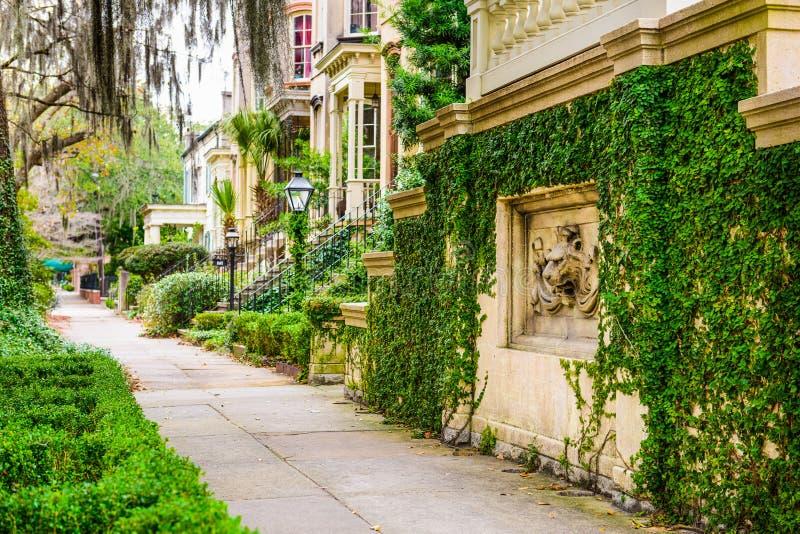 Savannah Georgia Historic Neighborhoods arkivbilder