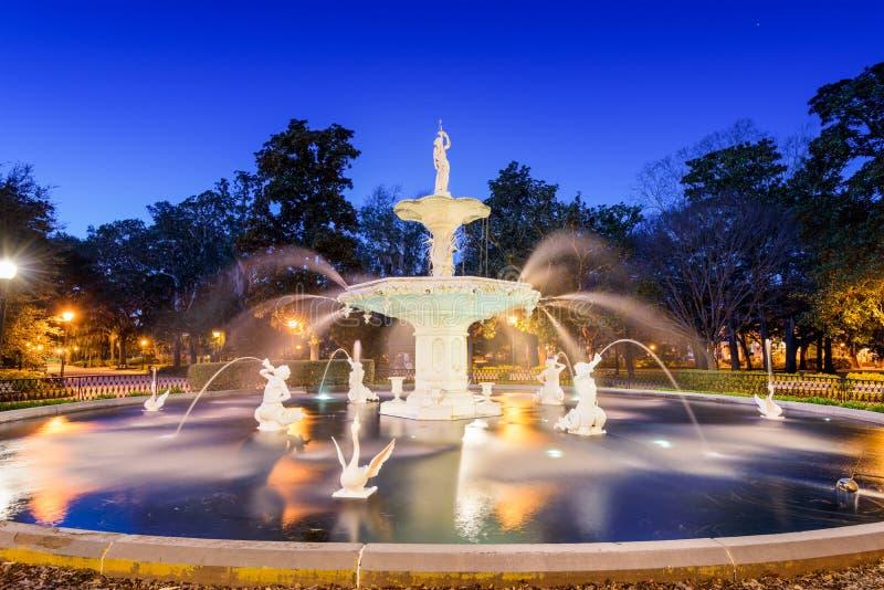 Savannah Georgia Park royaltyfria bilder