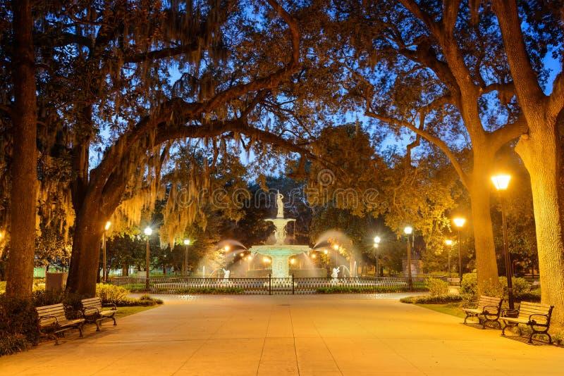 Savannah Georgia Park fotografía de archivo libre de regalías