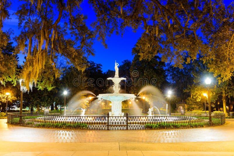 Savannah Georgia Park stock image