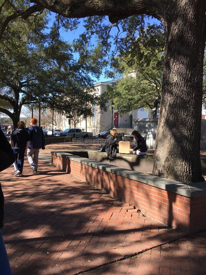 Savannah Georgia Square fotos de stock royalty free