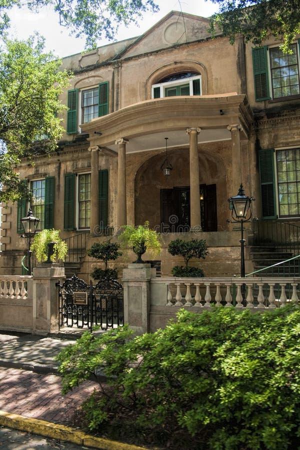 Savannah Georgia Victorian House histórica foto de archivo libre de regalías