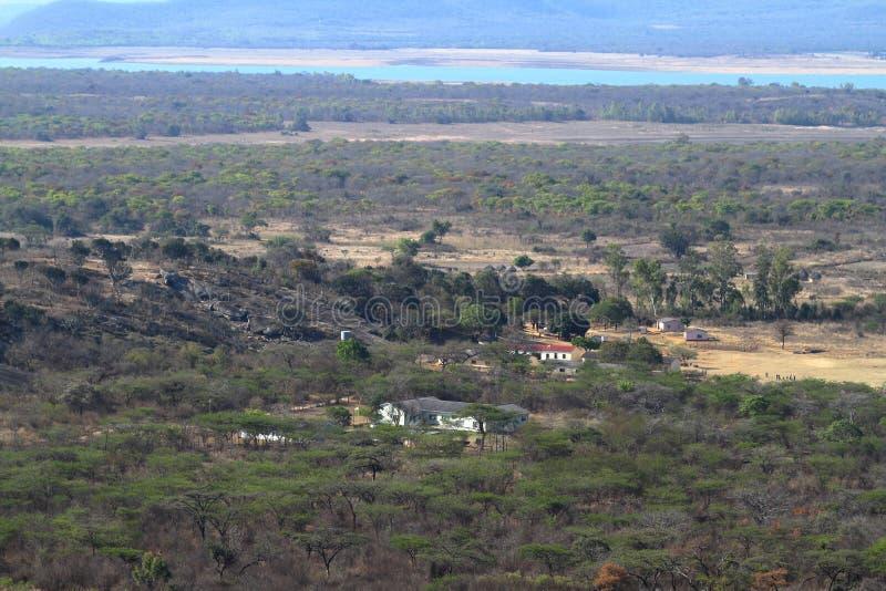 The Savannah in Zimbabwe stock image