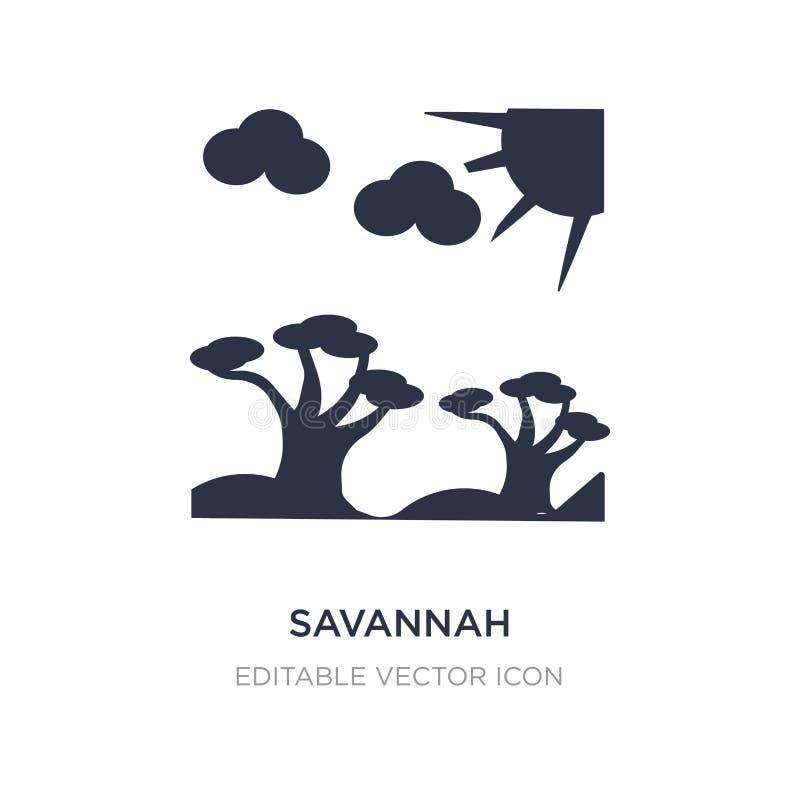 savannahsymbol på vit bakgrund Enkel beståndsdelillustration från naturbegrepp stock illustrationer