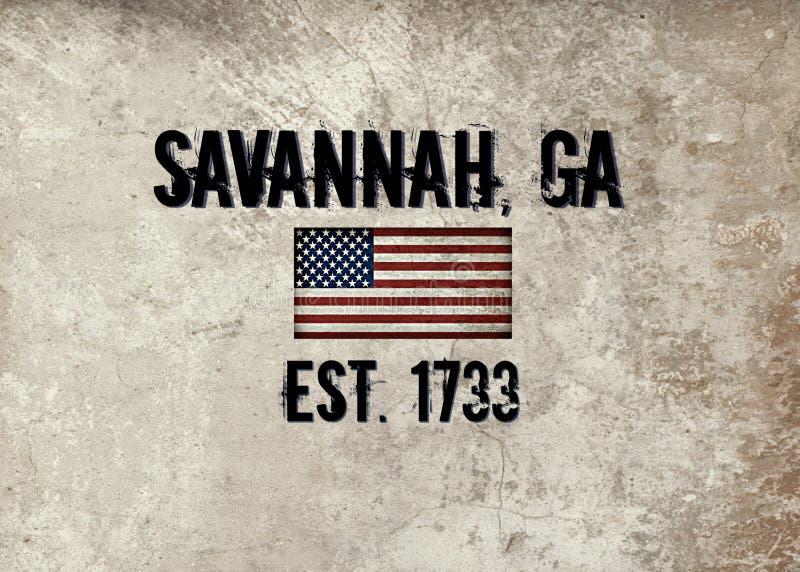 Savanne, Georgië stock illustratie