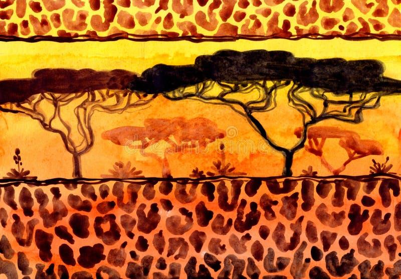 Savanne-Landschaft lizenzfreies stockbild