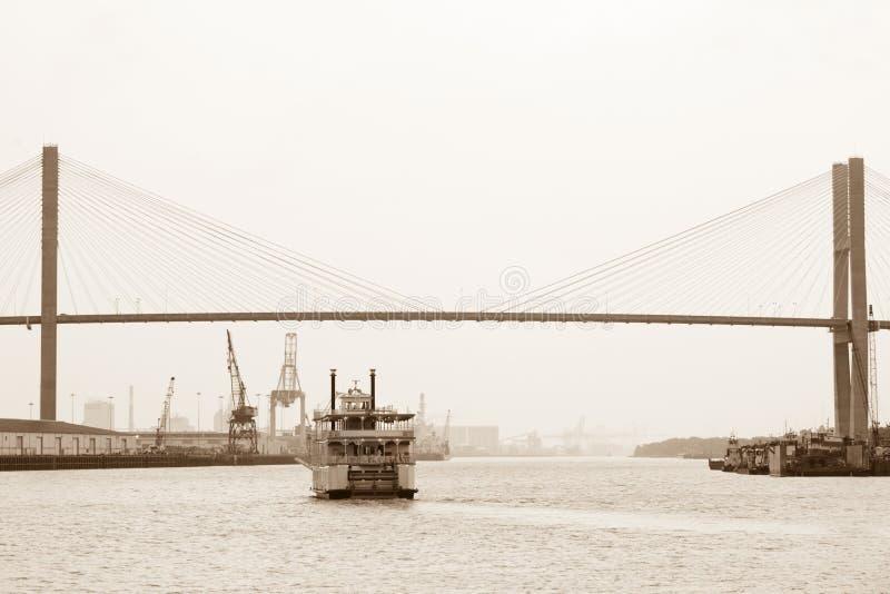 Savanne riverboat royalty-vrije stock afbeeldingen