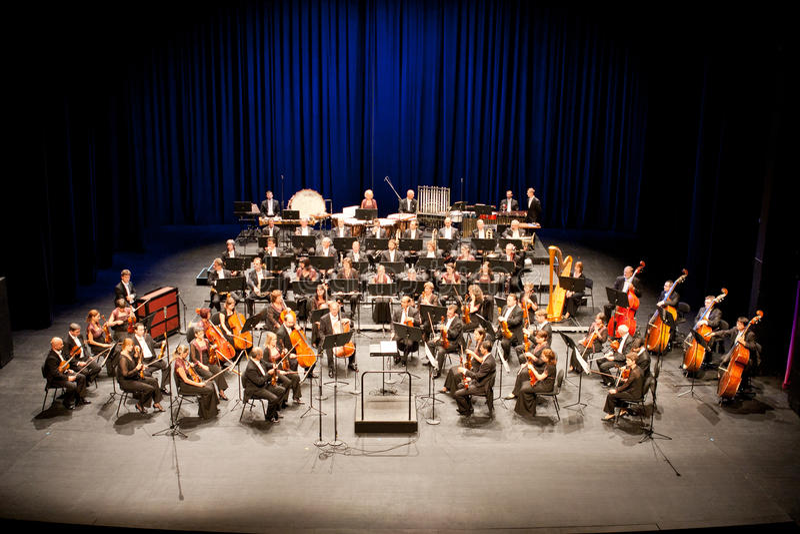 Savaria Symphonic Orchestra performs stock image