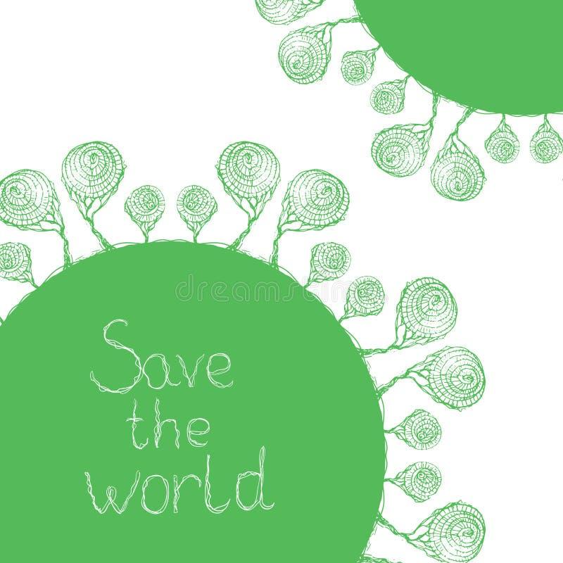 Save świat ilustracja wektor