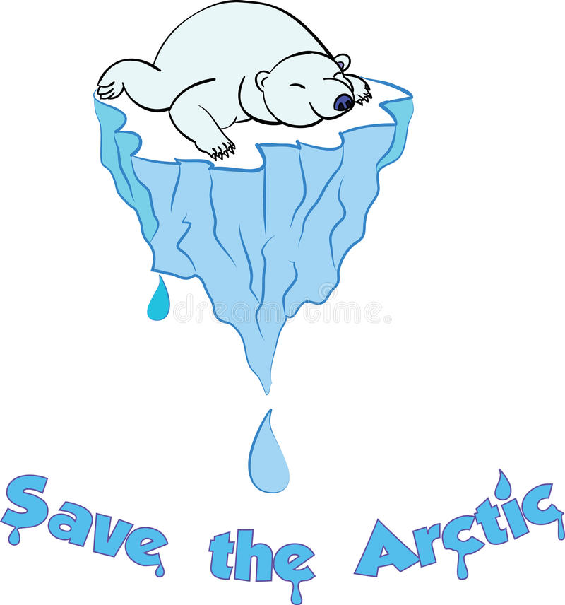 Save the Arctic bear royalty free stock images