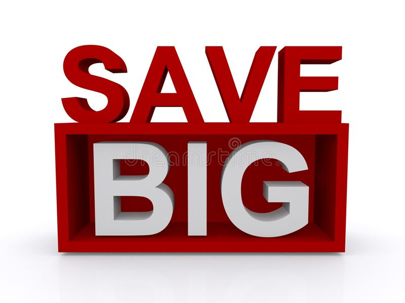 Save big sign stock illustration