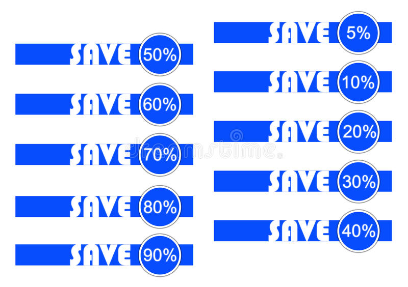 Download Save in blue and white stock illustration. Image of rate - 28396203