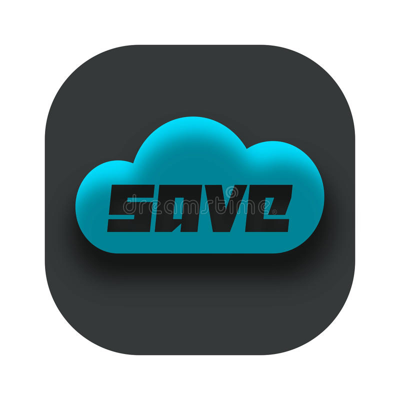 Save on the Cloud App Icon Logo stock images