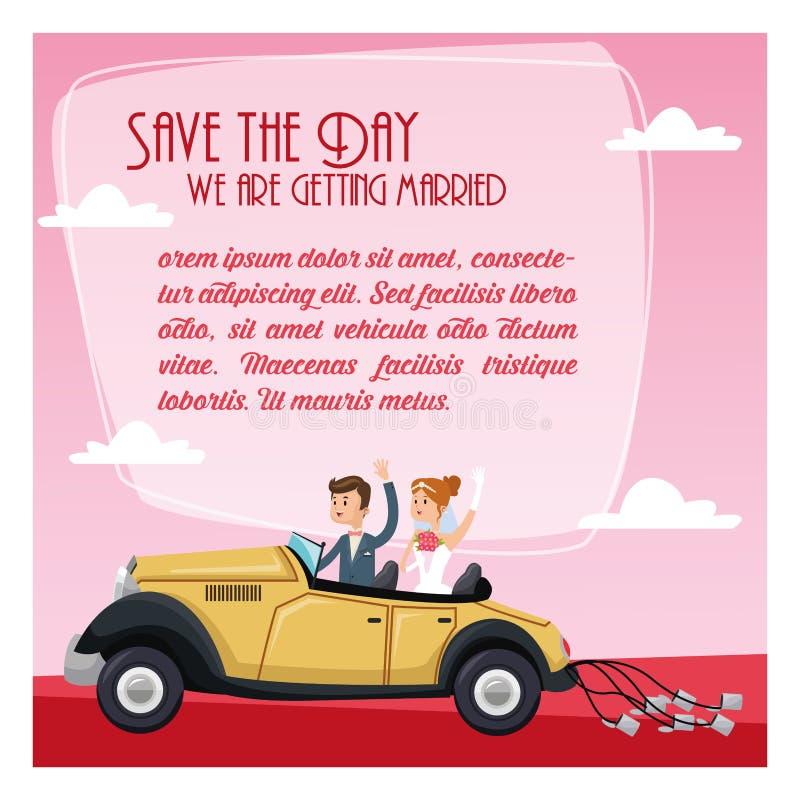 Save daktylową ślubną ikonę gdy dekoracyjna tło grafika stylizował wektorowe zawijas fala ilustracji