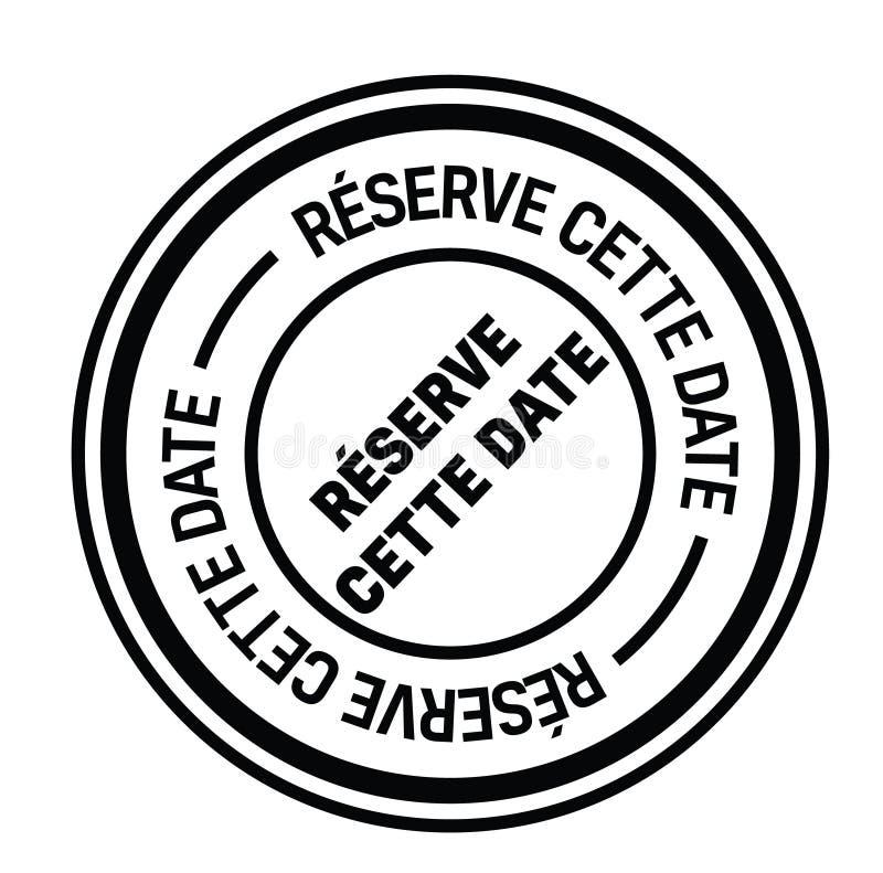 Save daktylowego znaczek w francuskim royalty ilustracja