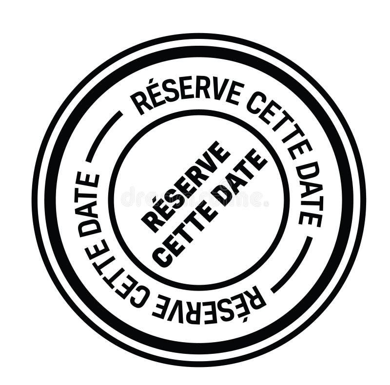 Save daktylowego znaczek w francuskim ilustracja wektor