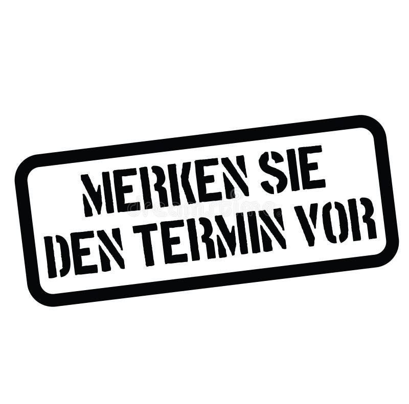 Save daktylowego znaczek w niemiec ilustracja wektor