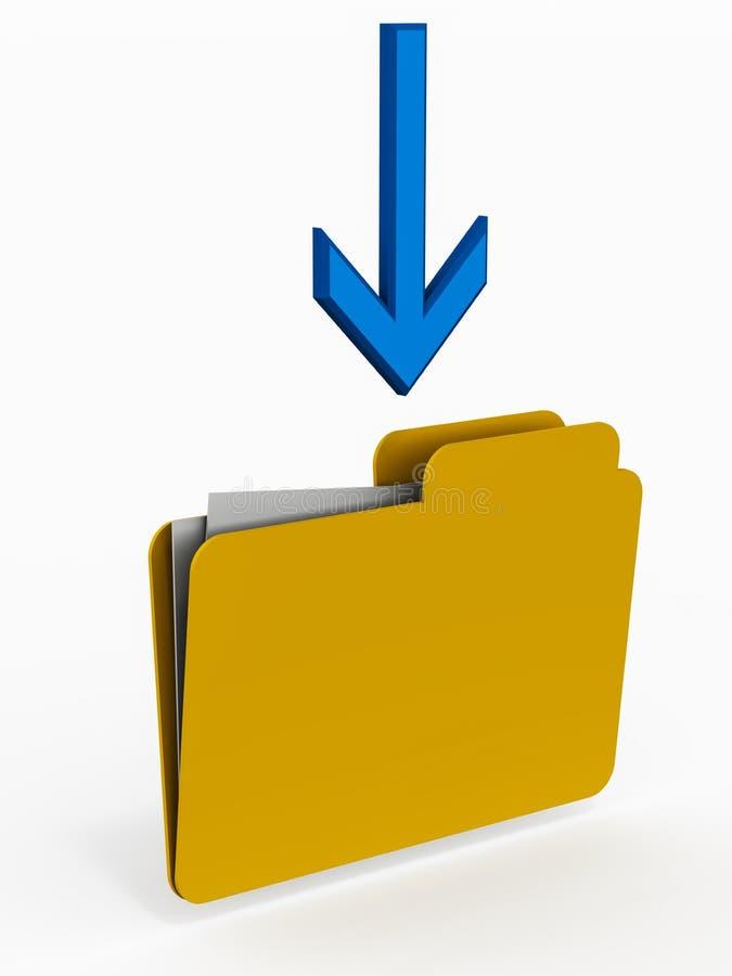 Download Save data folder stock illustration. Illustration of folders - 27100137