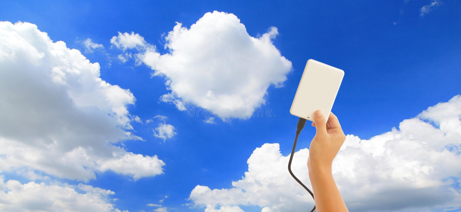 Download Save data to the cloud stock image. Image of customer - 21890349