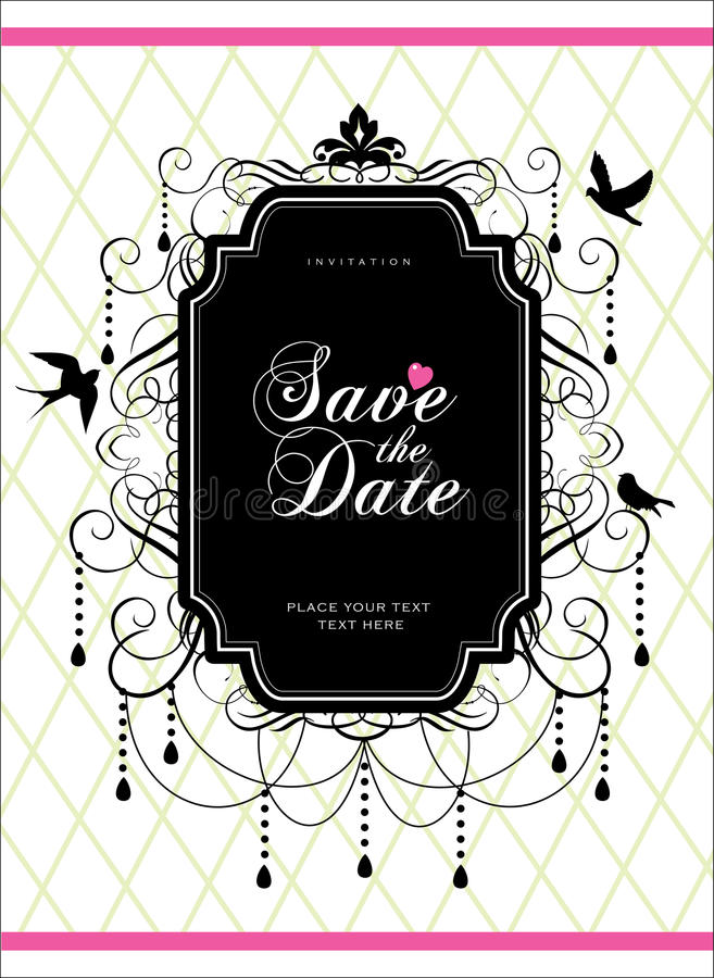 Save the date vector illustration