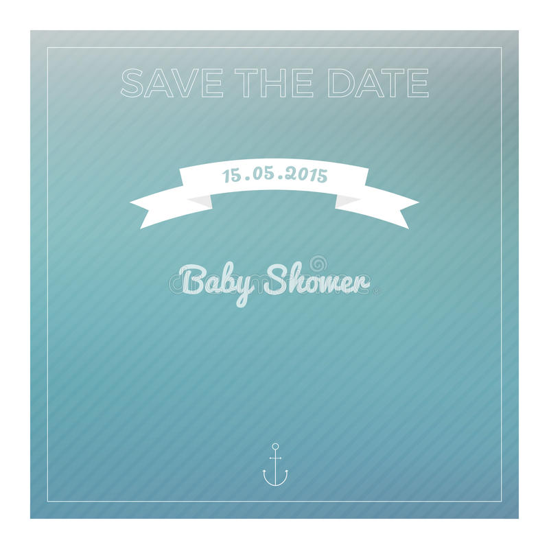 Download Save The Date Baby Shower Card Stock Illustration   Illustration  Of Creative, Baby:
