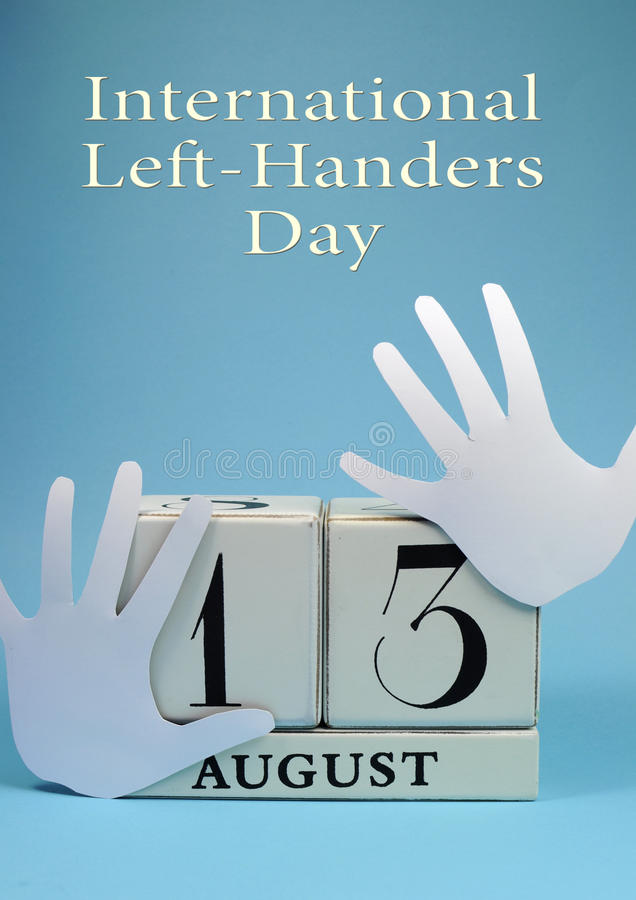 Save The Date Calendar For International Left Handers Day ...