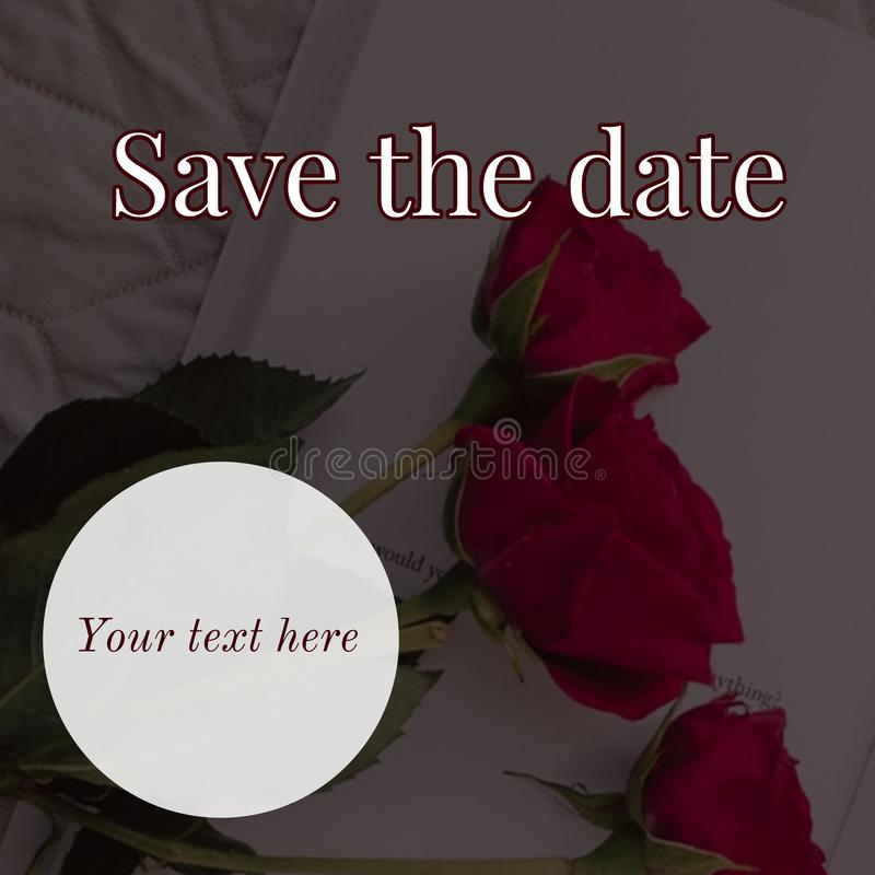 Save the date card design stock photo