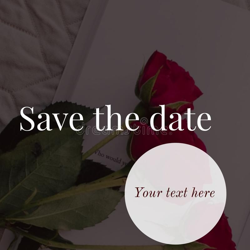 Save the date card design royalty free stock images