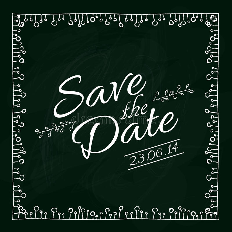 Save the date card. Vector illustration. stock illustration