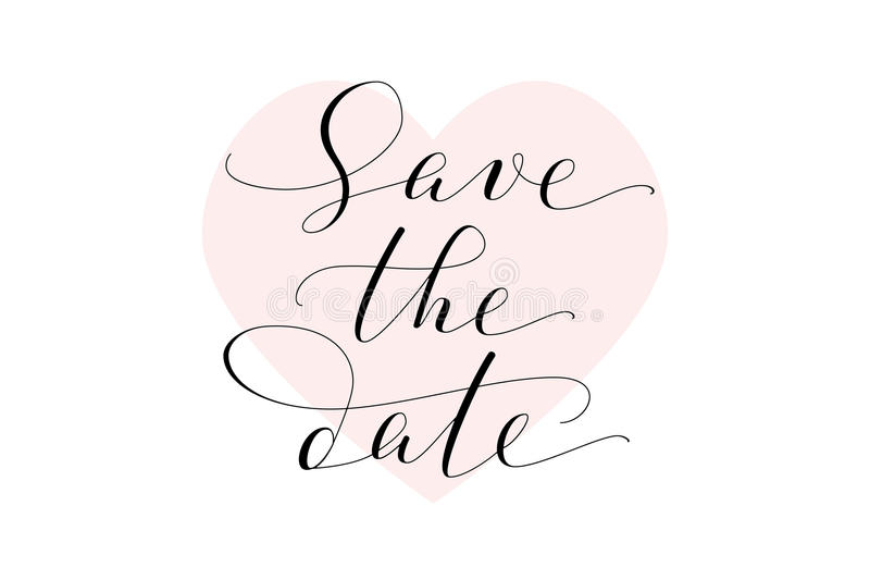 Save The Date Card Wedding Invitation Template Hand Written Custom - Save the date text template