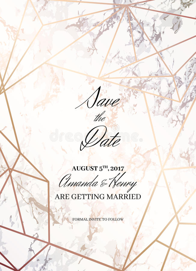 save the date design template for getting married stock