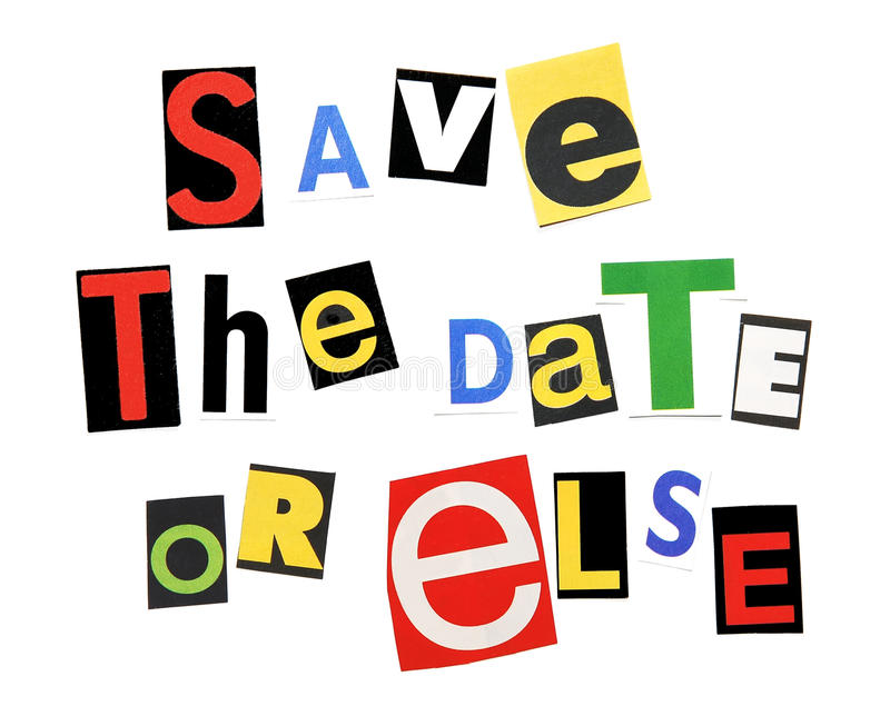 Save the date, or else royalty free stock photo