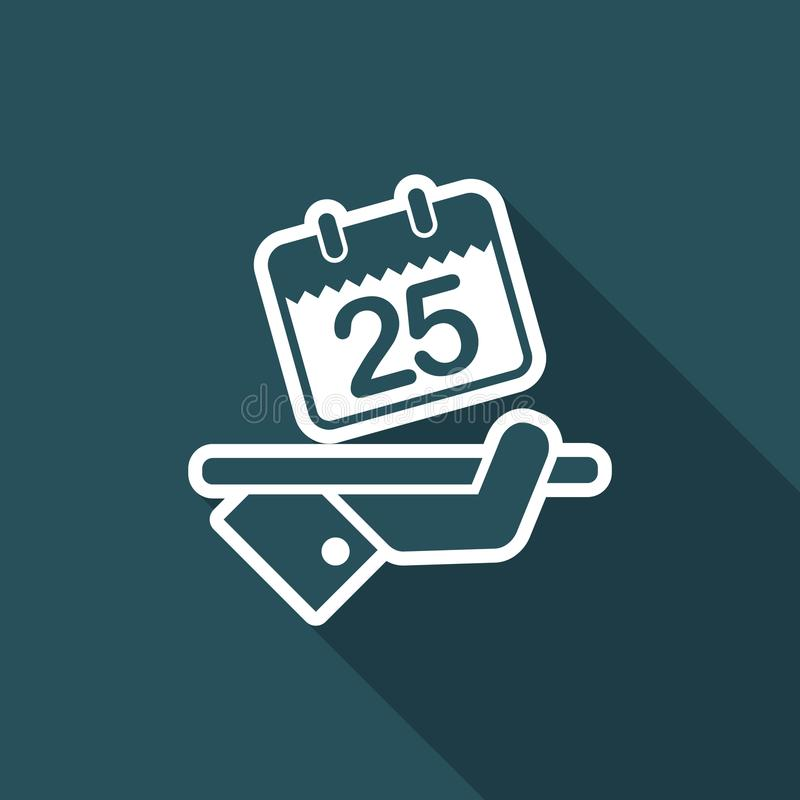 Save the date. Flat and isolated vector eps illustration icon with minimal design and long shadow stock illustration