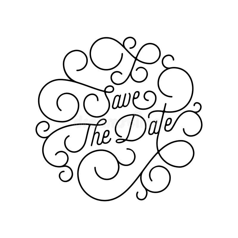 Save the date flourish calligraphy lettering of swash line download save the date flourish calligraphy lettering of swash line typography for wedding invitation card design stopboris Images