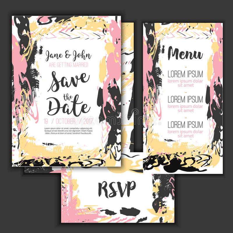 Save the date freehand card with hand drawn background modern stock download save the date freehand card with hand drawn background modern stock vector invitation stopboris Images