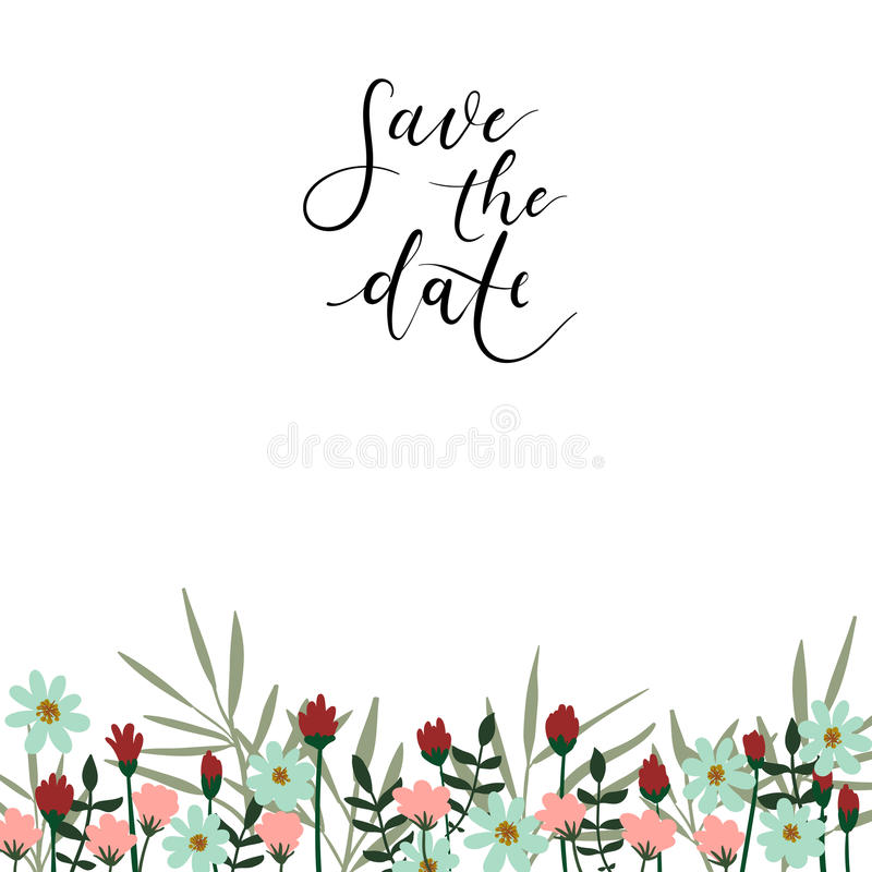 Save the date hand lettering card wedding invitation modern download save the date hand lettering card wedding invitation modern calligraphy stock vector stopboris Images