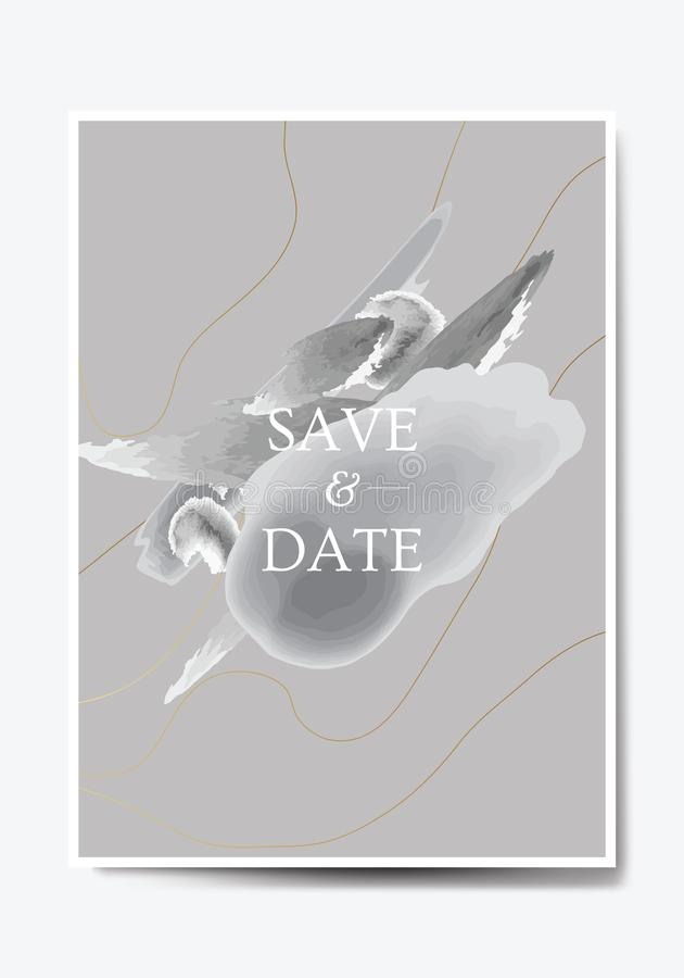 Save the Date invitation card design. Vector illustration. EPS 10 royalty free illustration
