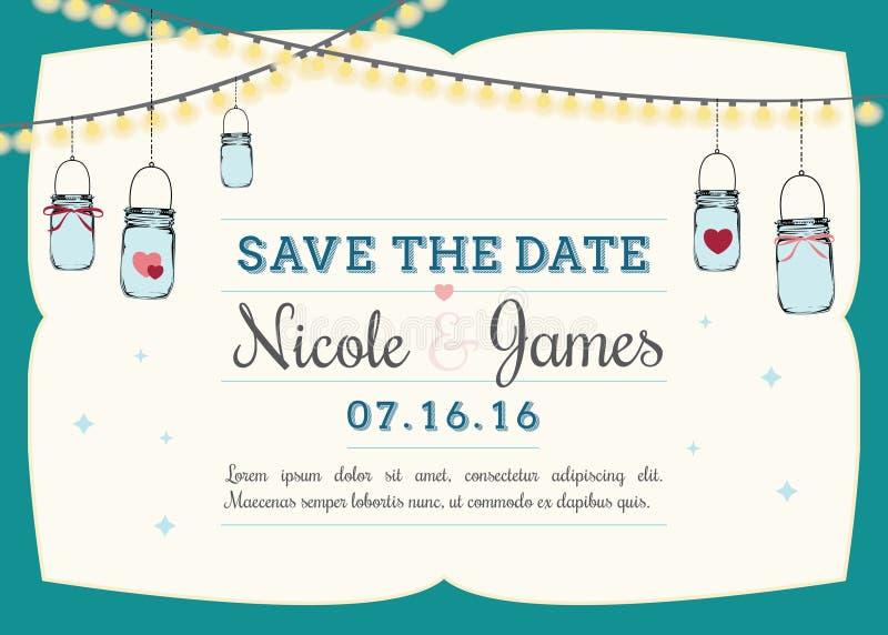 Save the date invitation vector illustration