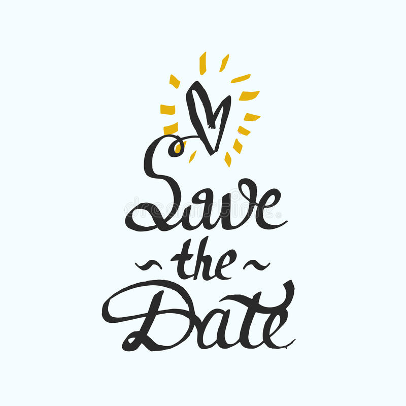 Save the Date. Modern brush calligraphy. stock photography