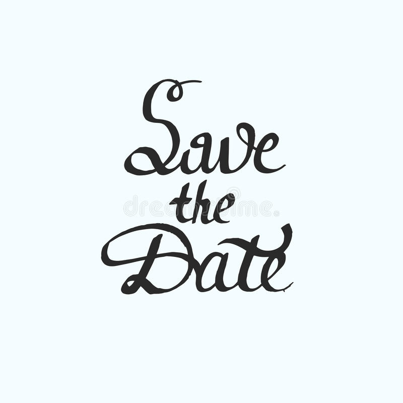 Save the Date. Modern brush calligraphy. royalty free stock photos