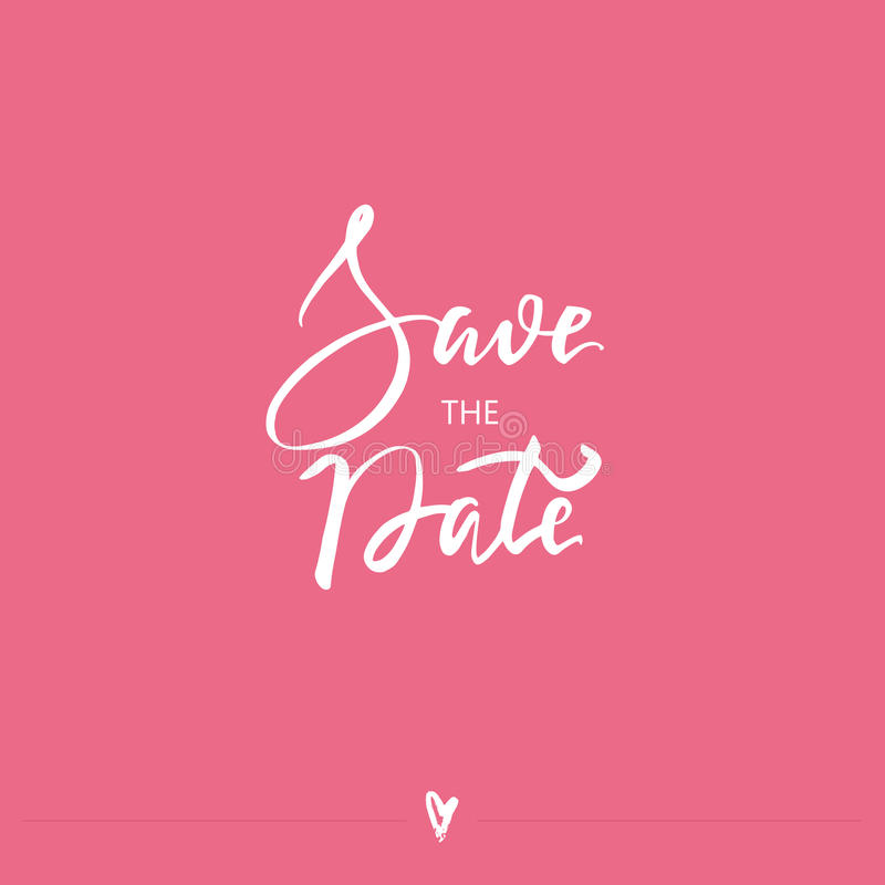 Save the Date. Modern brush calligraphy. stock images