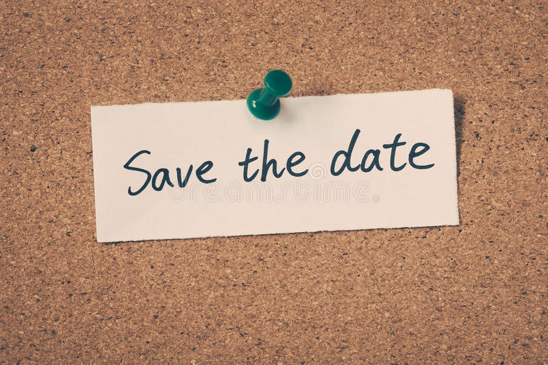 Save the date royalty free stock image