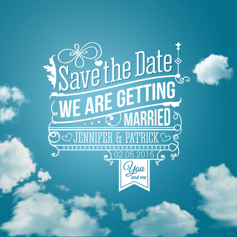 Save the date for personal holiday. Wedding invitation. Vector i vector illustration