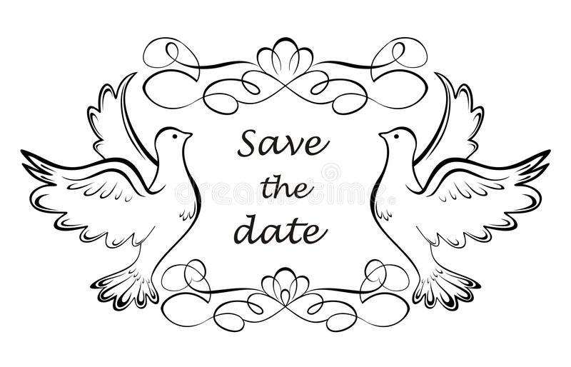 Save the date royalty free illustration