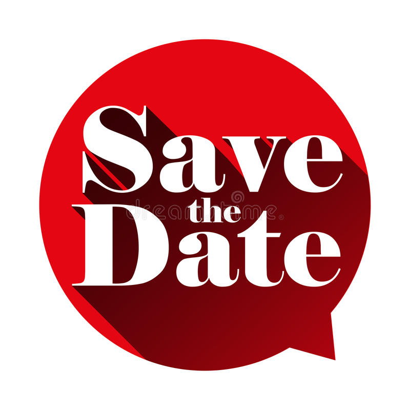 Download Save The Date Sign Speech Bubble Stock Vector - Image: 92603417