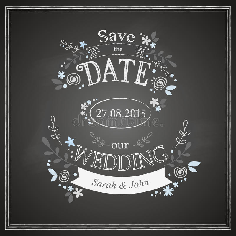 Save the date wedding card royalty free illustration