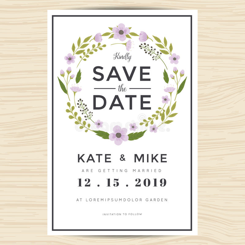Save the date wedding invitation card template with hand for Free vintage save the date templates