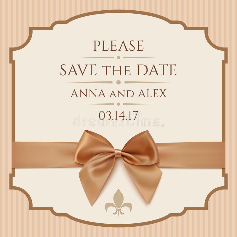 Save The Date Wedding Invitation Card Stock Illustration